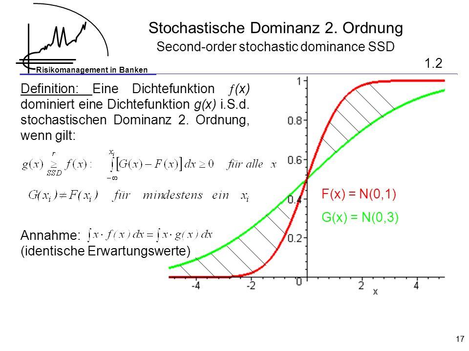 Stochastische Dominanz 2. Ordnung