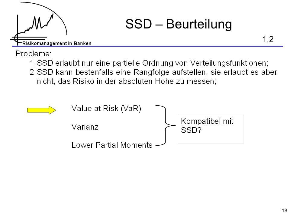 SSD – Beurteilung 1.2 18