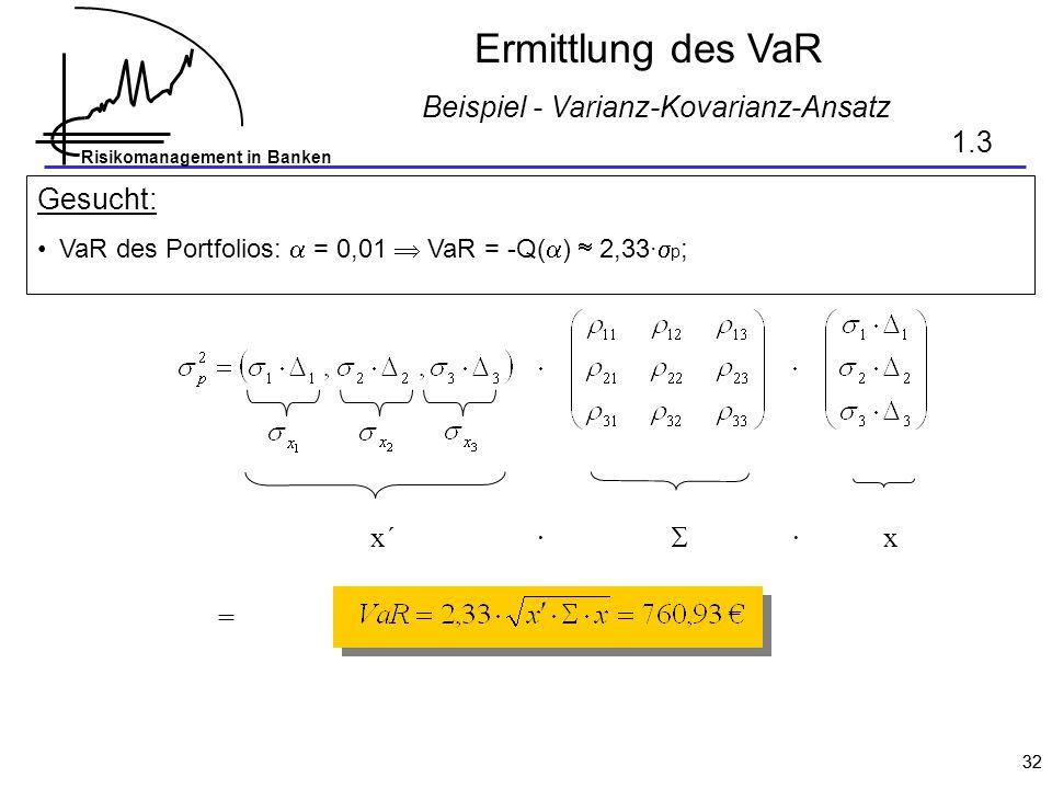 Beispiel - Varianz-Kovarianz-Ansatz
