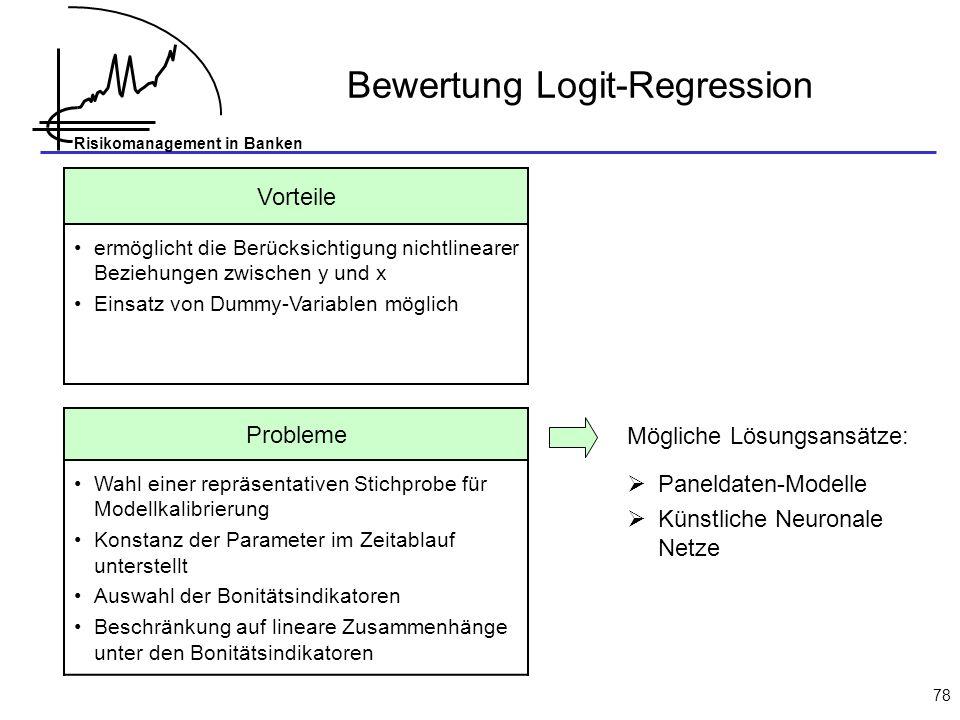 Bewertung Logit-Regression