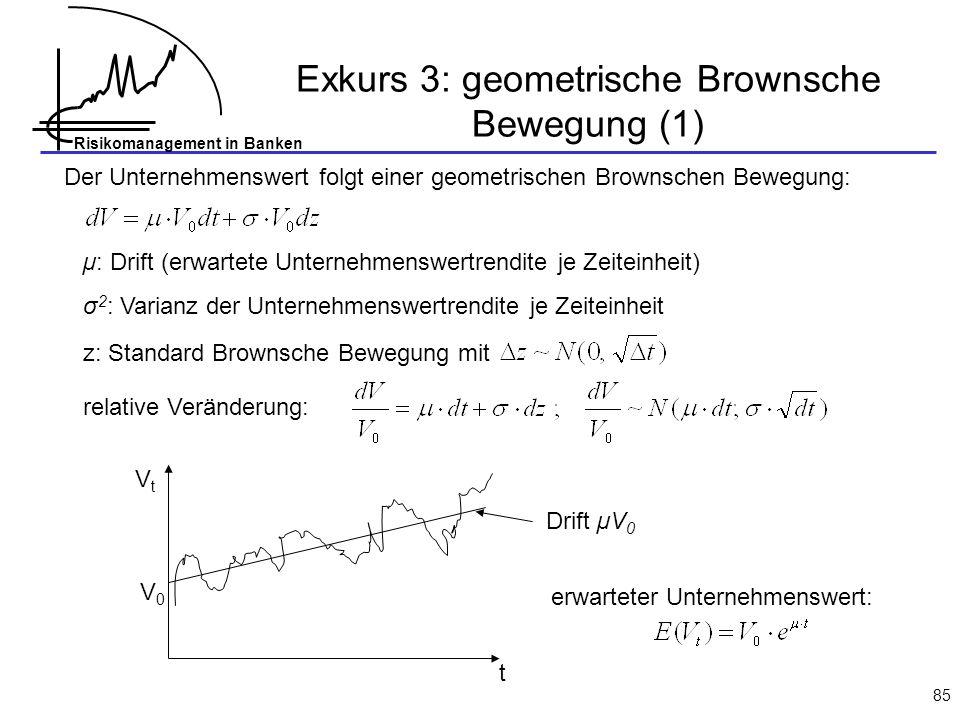 Exkurs 3: geometrische Brownsche Bewegung (1)