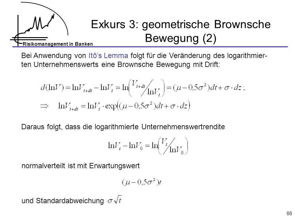 Exkurs 3: geometrische Brownsche Bewegung (2)