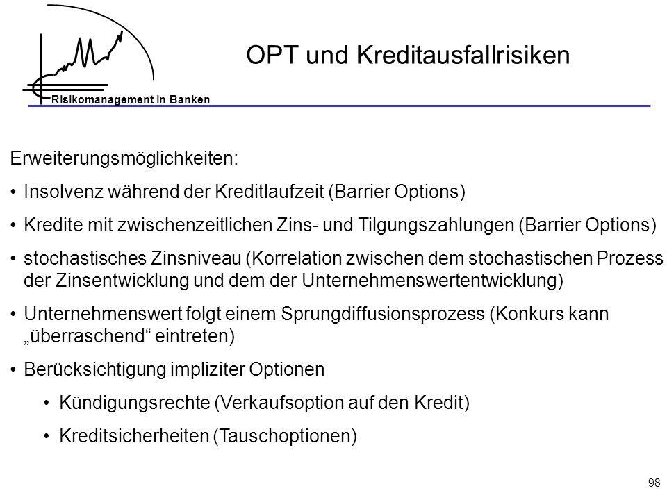 OPT und Kreditausfallrisiken