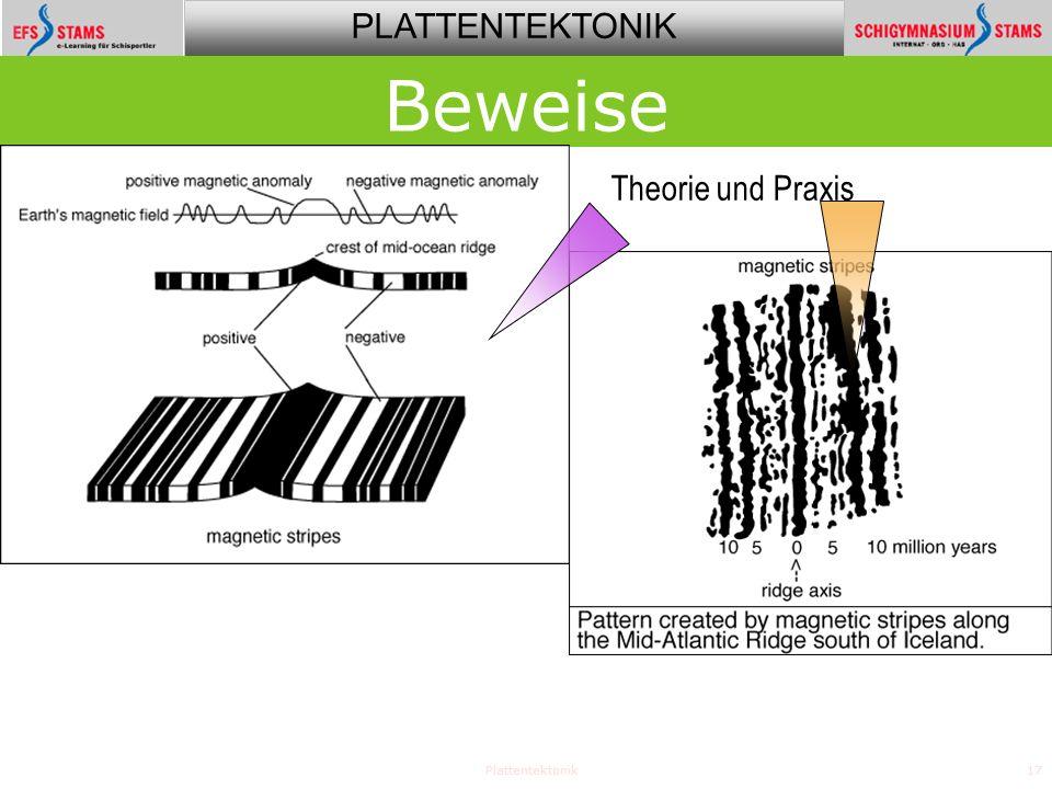 Beweise Theorie und Praxis Plattentektonik