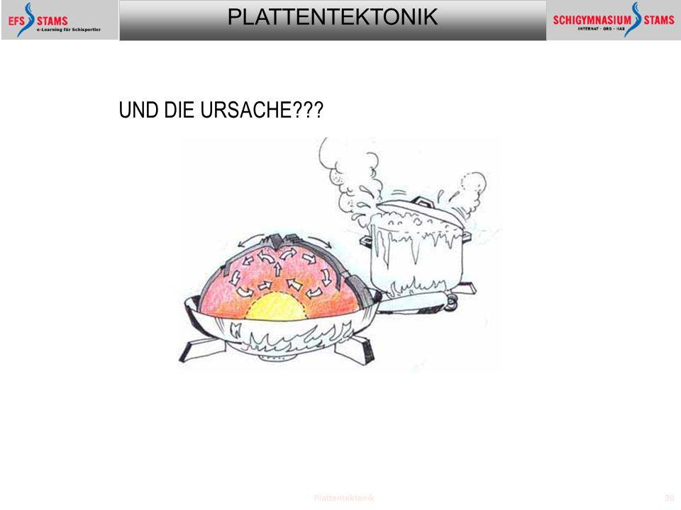 UND DIE URSACHE Plattentektonik