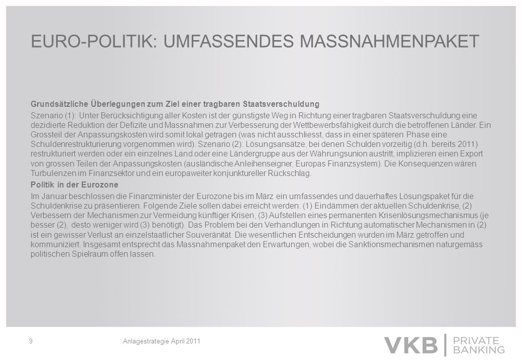 EURO-POLITIK: UMFASSENDES MASSNAHMENPAKET