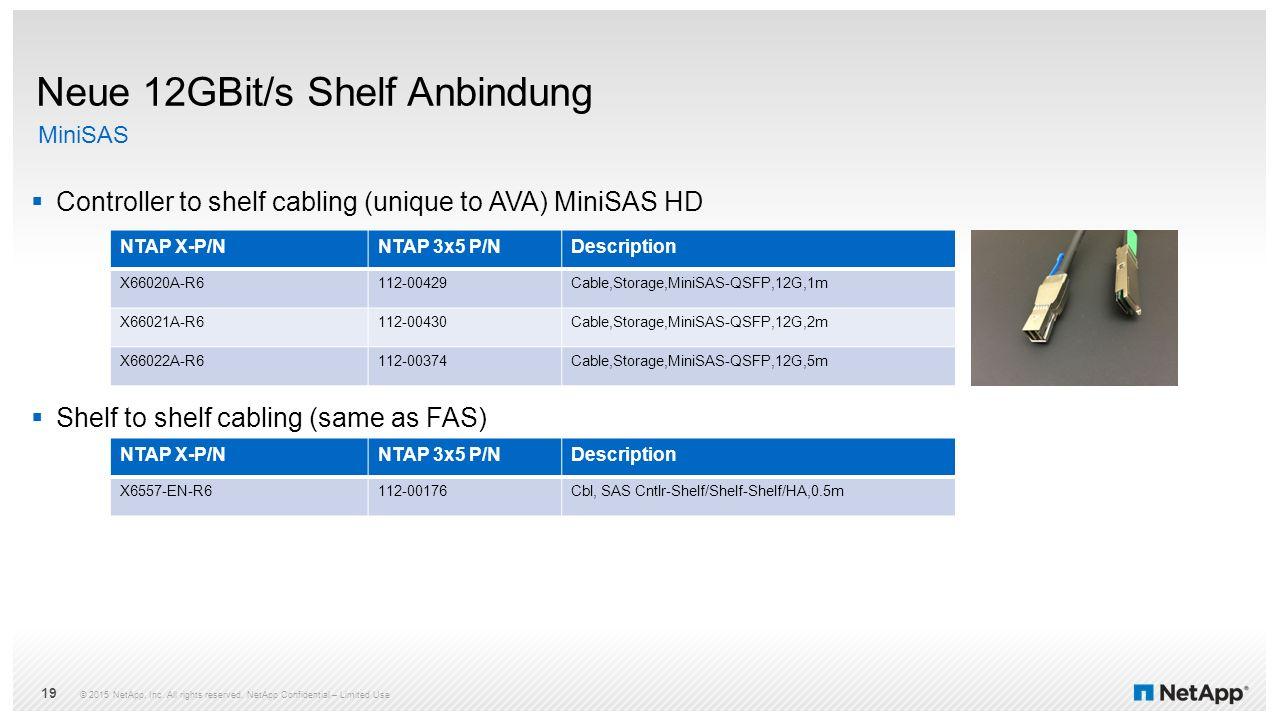 Neue 12GBit/s Shelf Anbindung