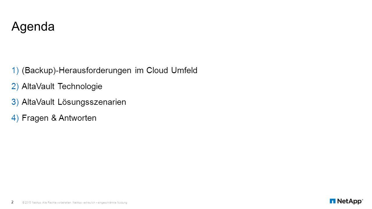 Agenda (Backup)-Herausforderungen im Cloud Umfeld