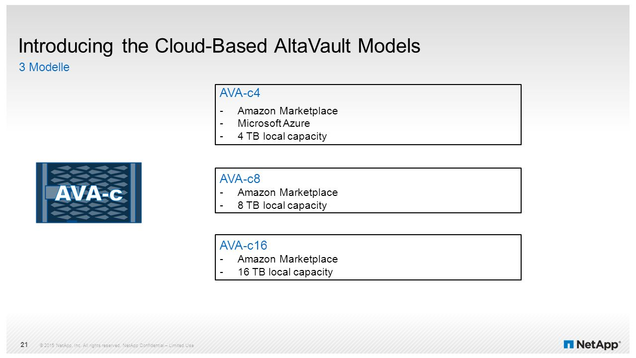 Introducing the Cloud-Based AltaVault Models
