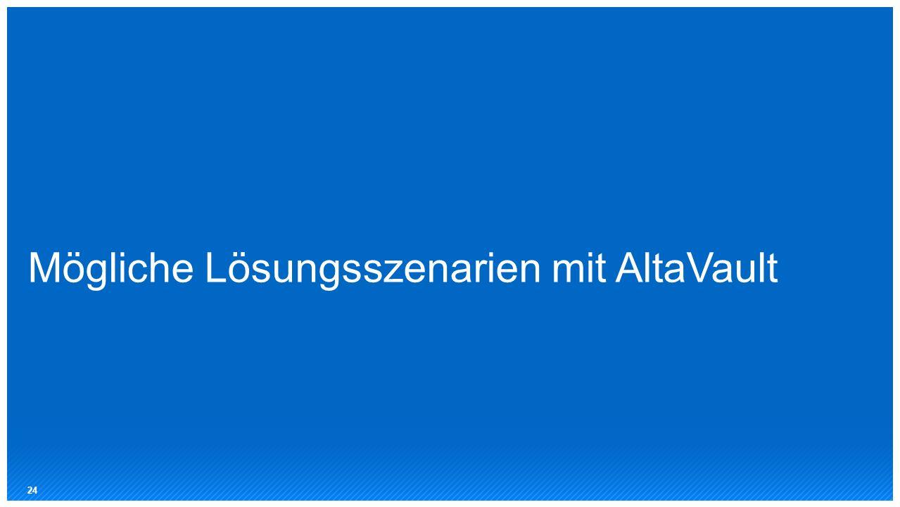 Mögliche Lösungsszenarien mit AltaVault