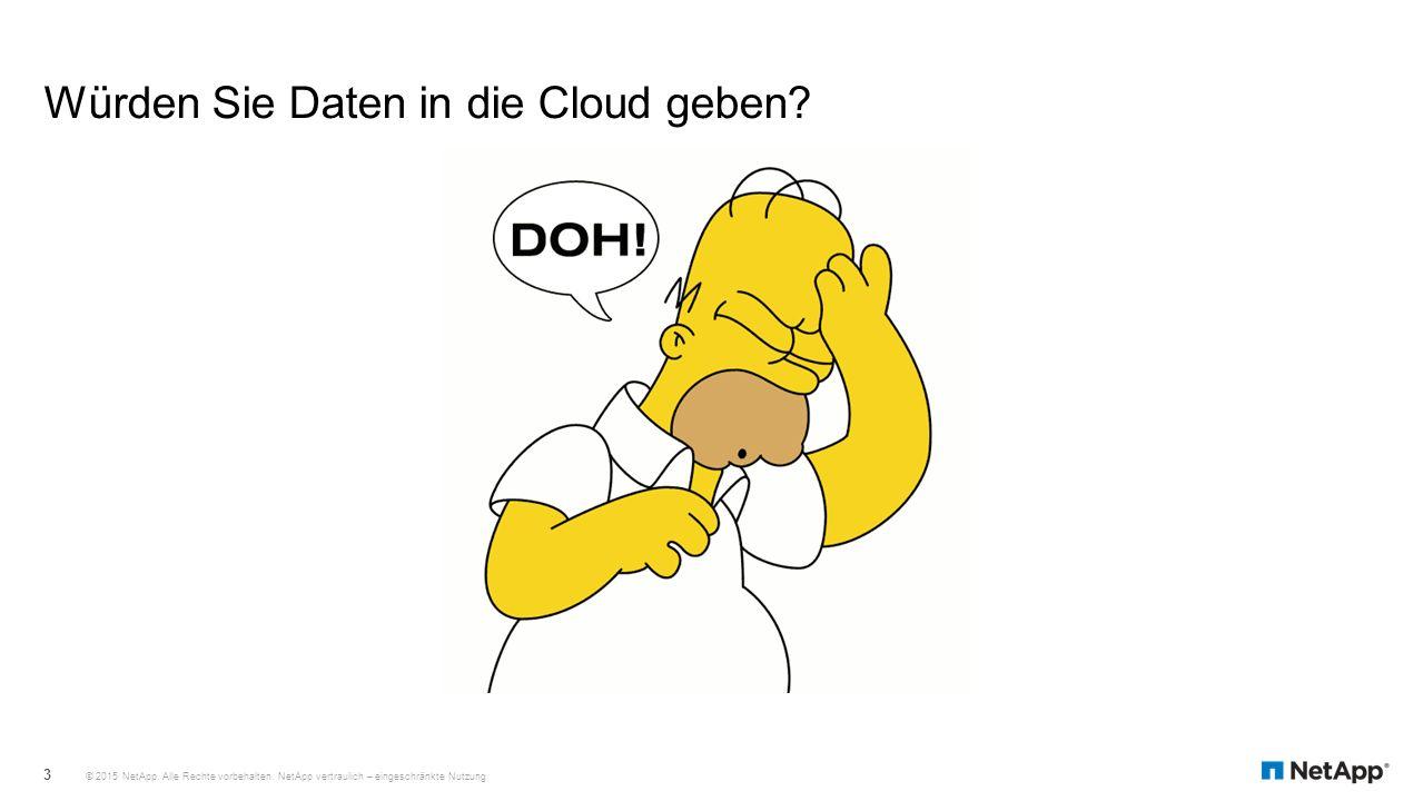 Würden Sie Daten in die Cloud geben