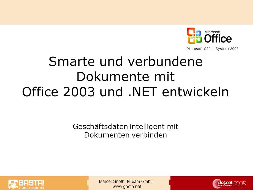 Smarte und verbundene Dokumente mit Office 2003 und .NET entwickeln