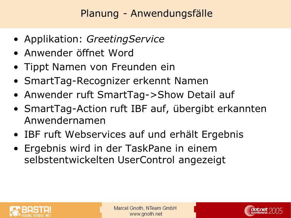 Planung - Anwendungsfälle