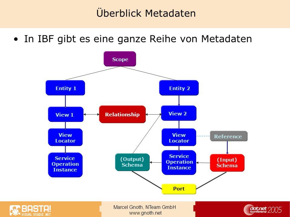 In IBF gibt es eine ganze Reihe von Metadaten