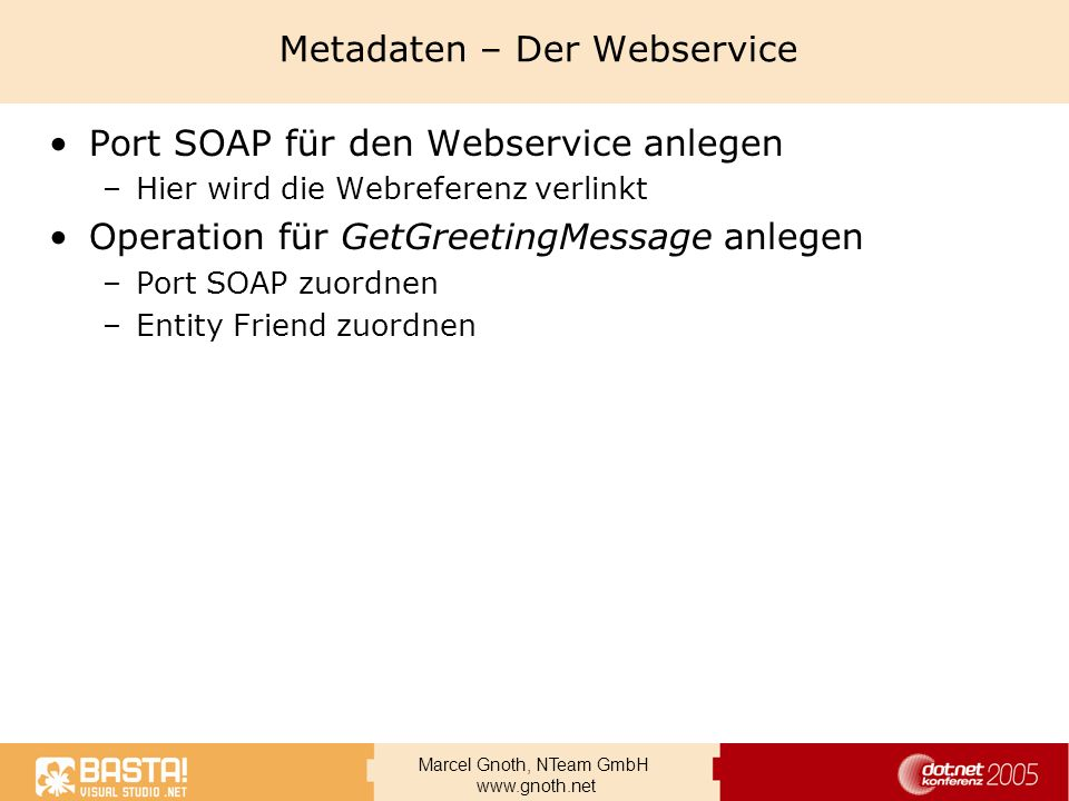 Metadaten – Der Webservice