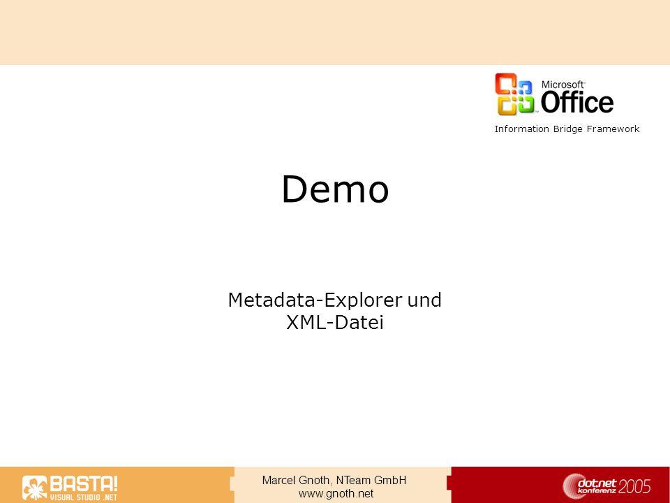 Metadata-Explorer und XML-Datei