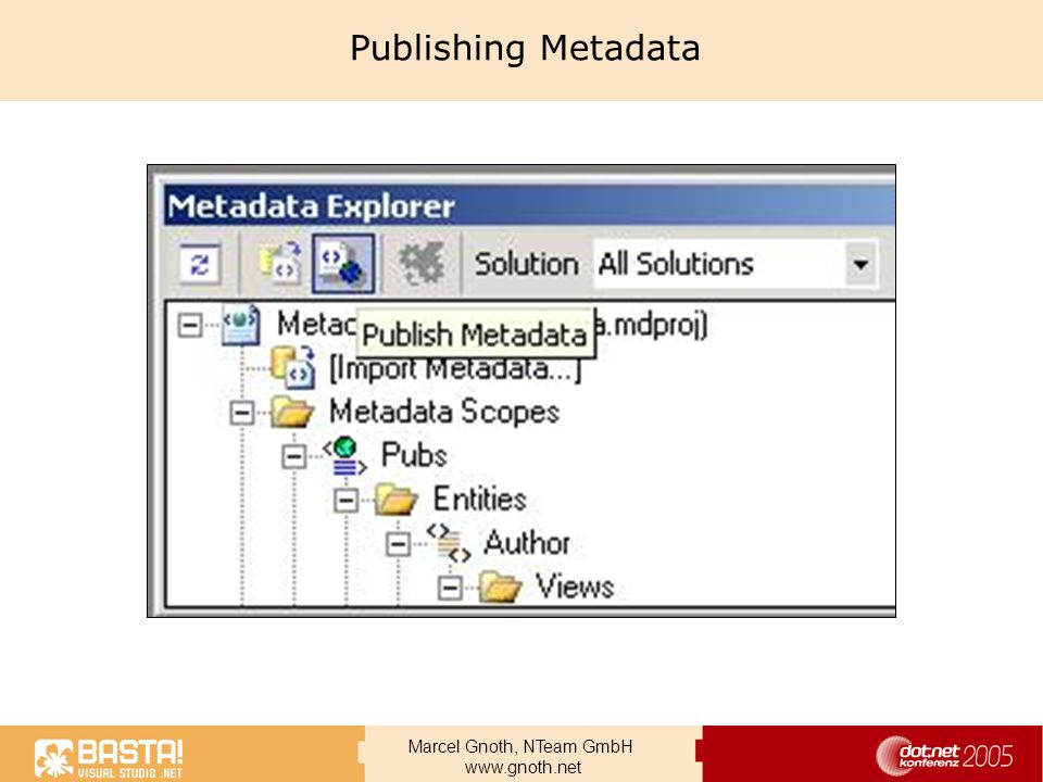 Publishing Metadata