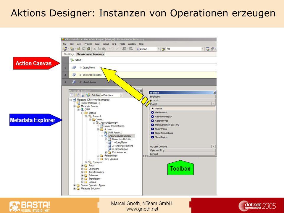 Aktions Designer: Instanzen von Operationen erzeugen