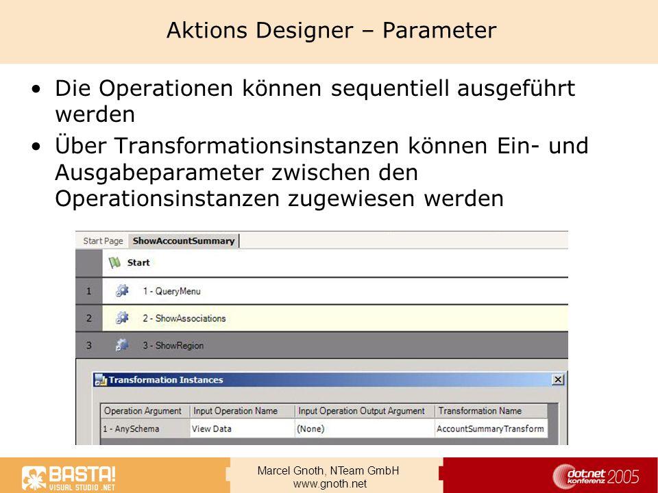 Aktions Designer – Parameter