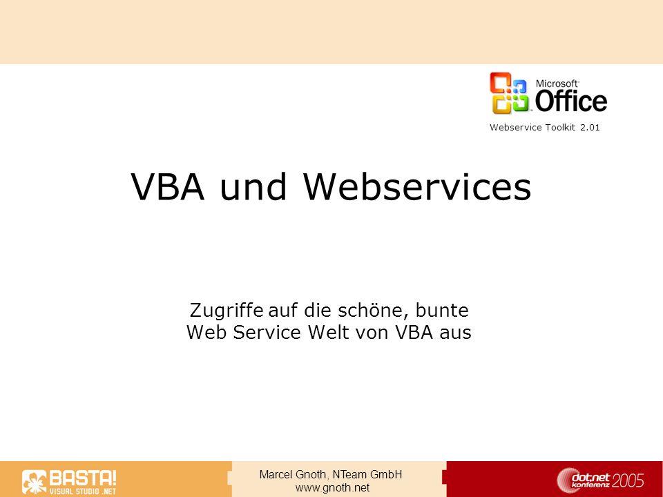 Zugriffe auf die schöne, bunte Web Service Welt von VBA aus