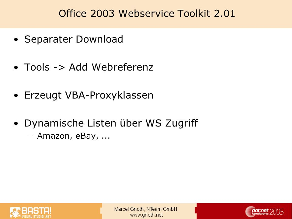 Office 2003 Webservice Toolkit 2.01