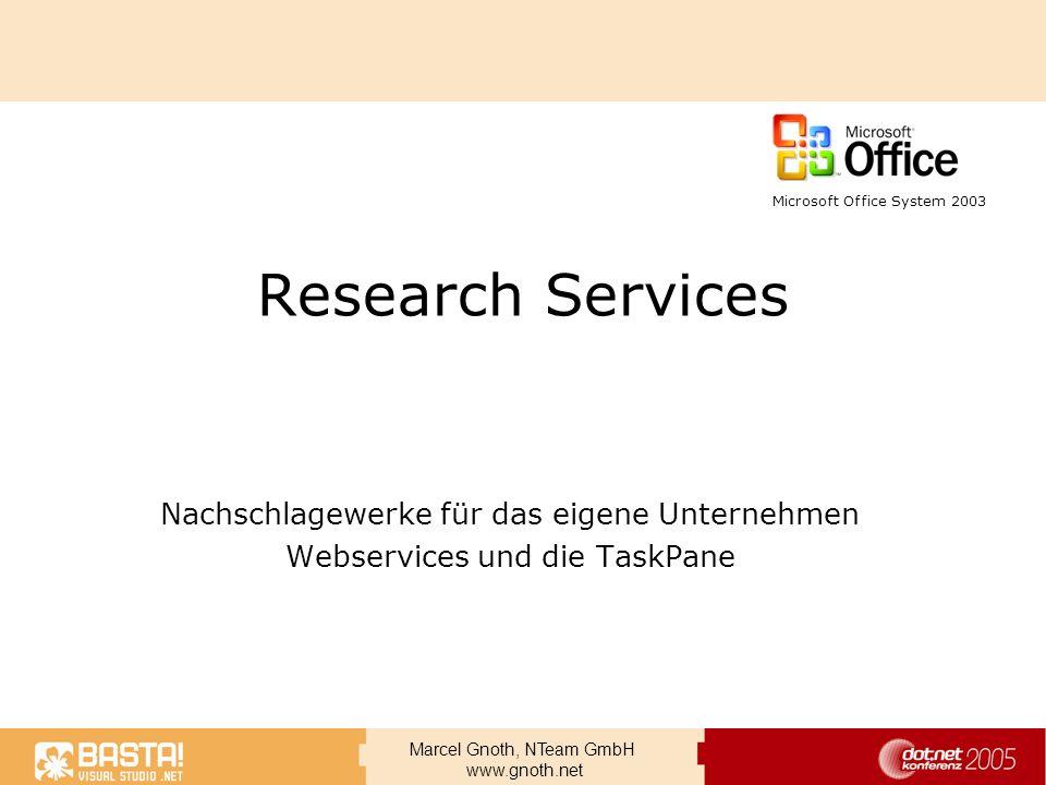Research Services Nachschlagewerke für das eigene Unternehmen