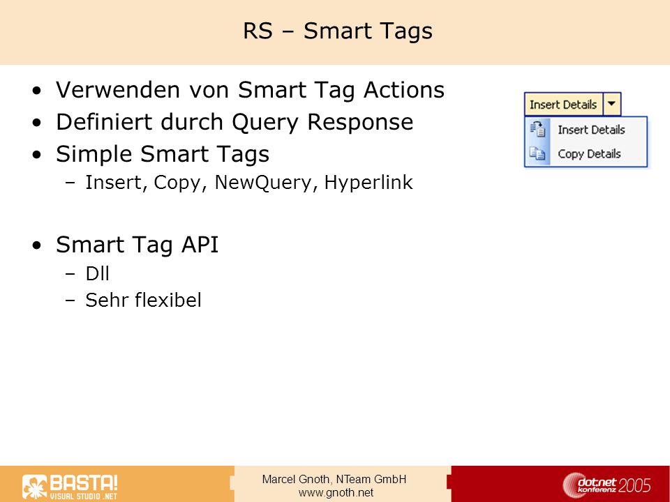 Verwenden von Smart Tag Actions Definiert durch Query Response