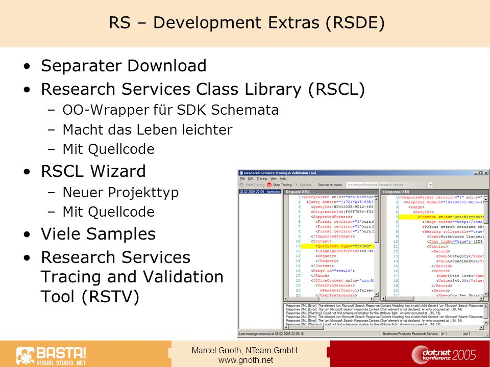 RS – Development Extras (RSDE)