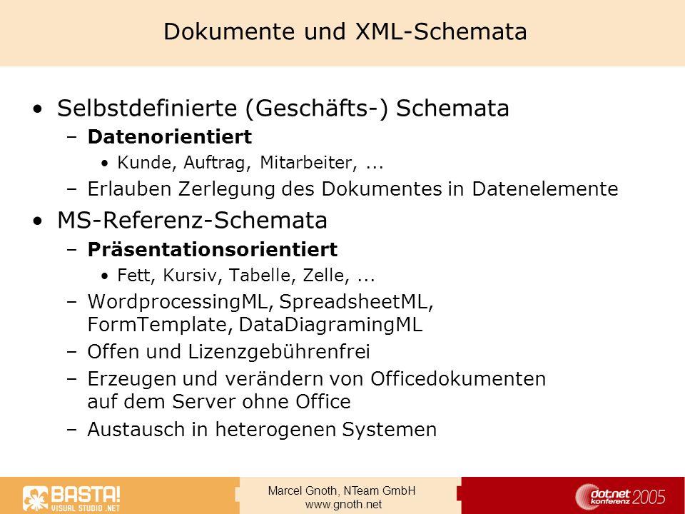 Dokumente und XML-Schemata