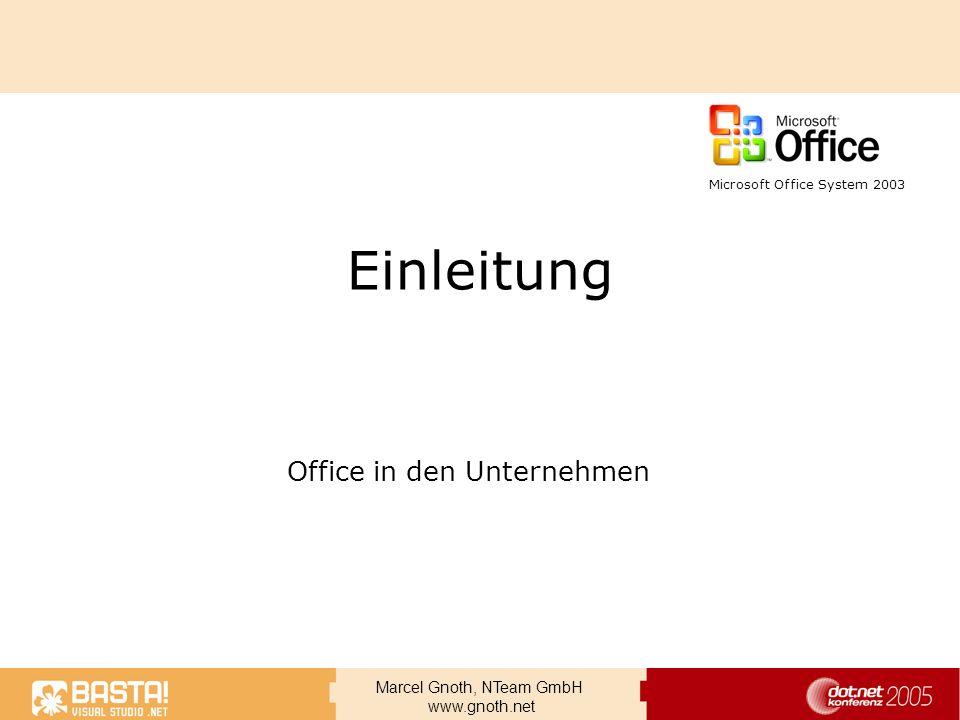Office in den Unternehmen