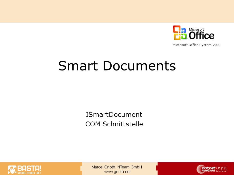 ISmartDocument COM Schnittstelle