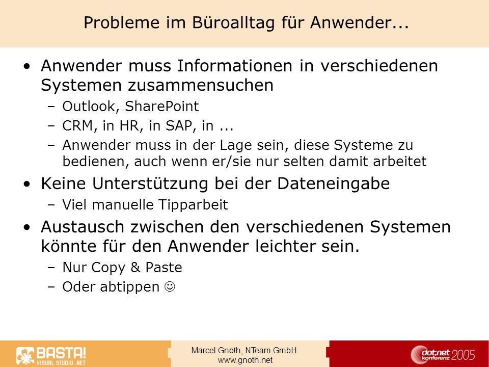 Probleme im Büroalltag für Anwender...