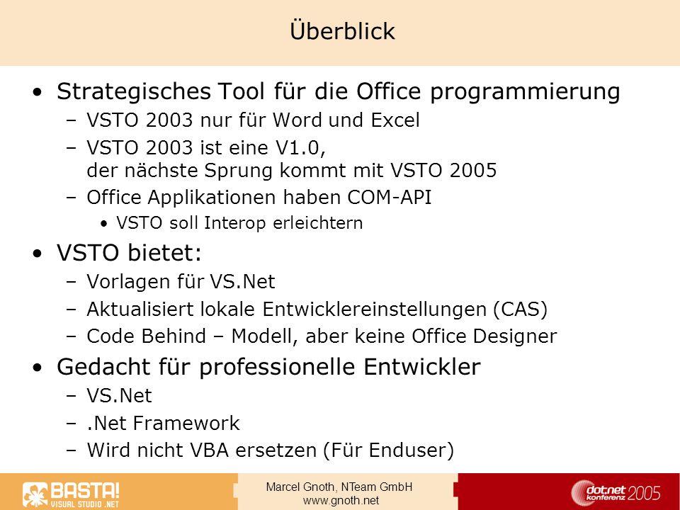 Strategisches Tool für die Office programmierung