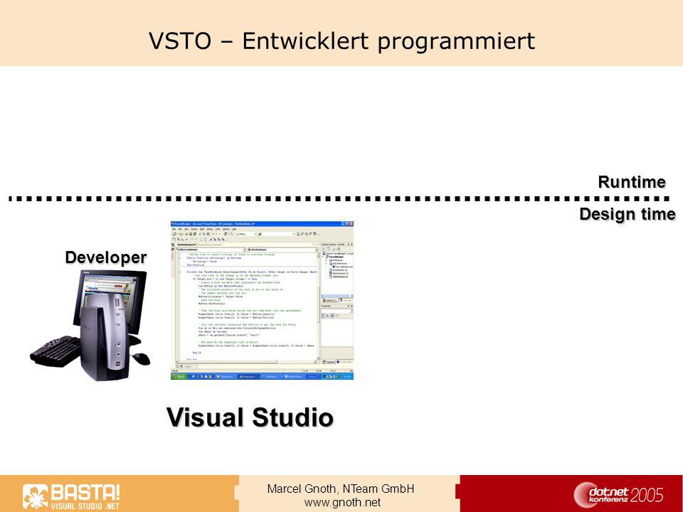 VSTO – Entwicklert programmiert