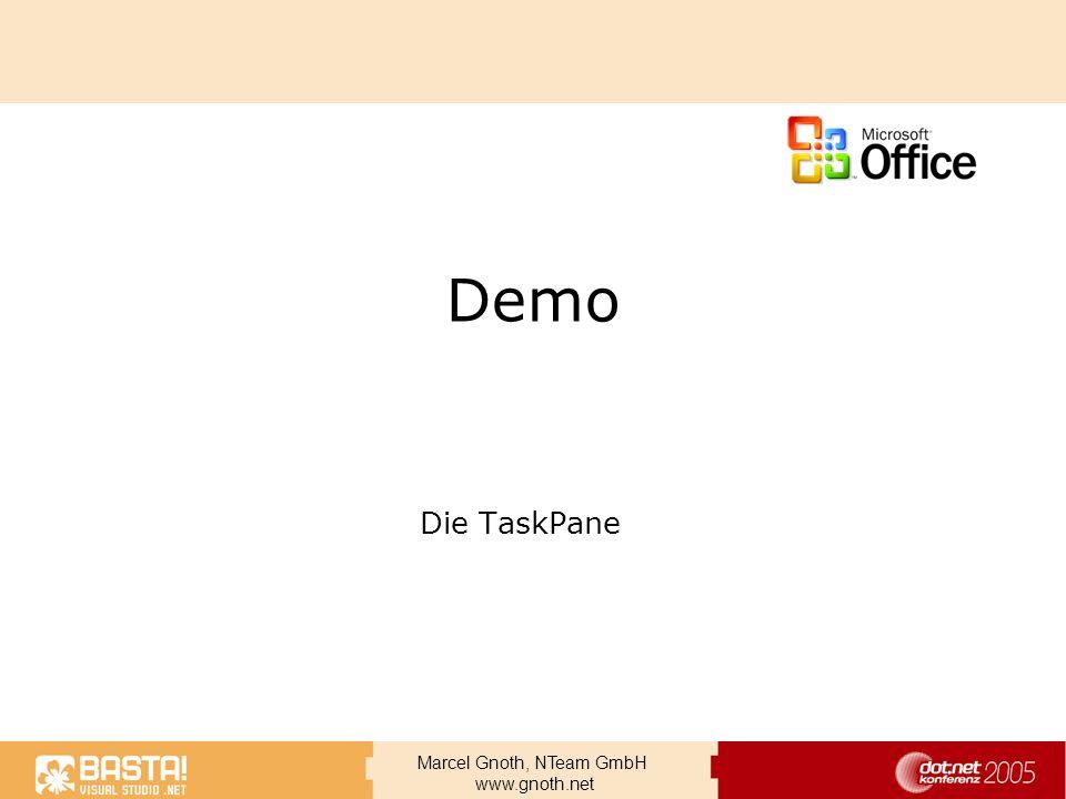 Demo Die TaskPane