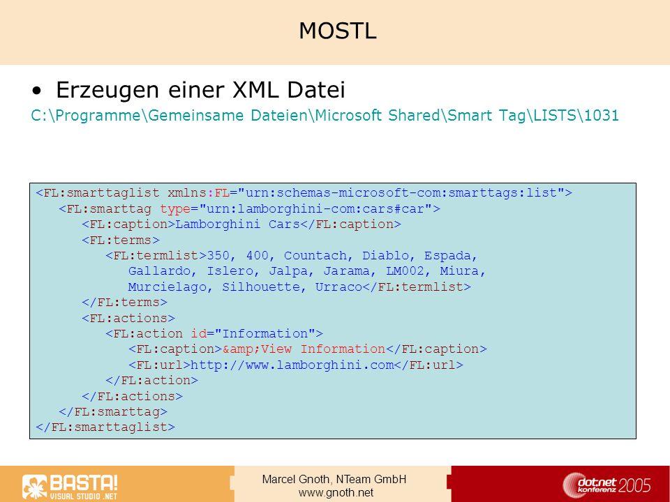 Erzeugen einer XML Datei