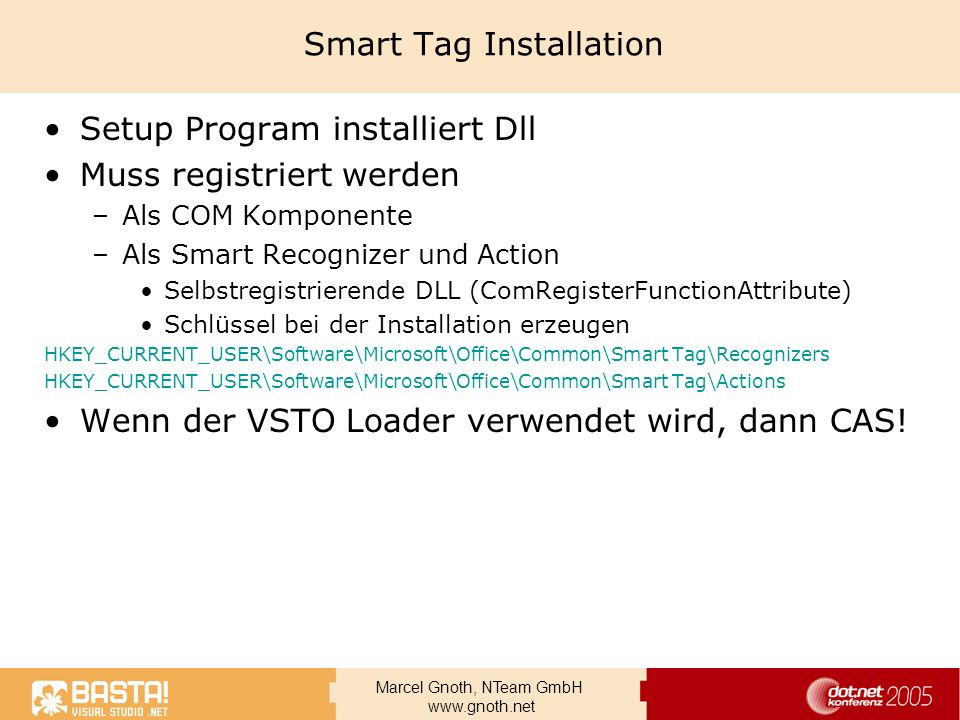 Smart Tag Installation