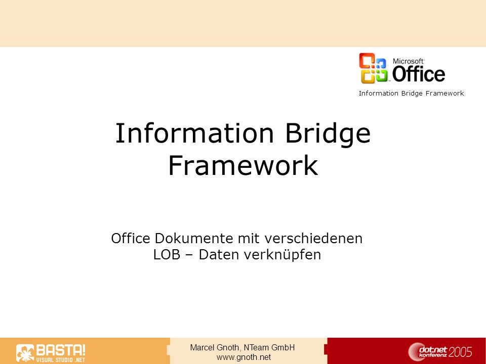 Information Bridge Framework