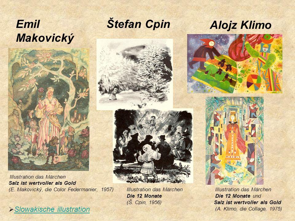 Emil Makovický Štefan Cpin Alojz Klimo Slowakische illustration