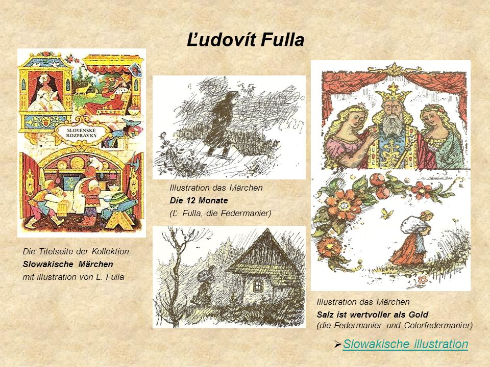 Ľudovít Fulla Slowakische illustration Illustration das Märchen