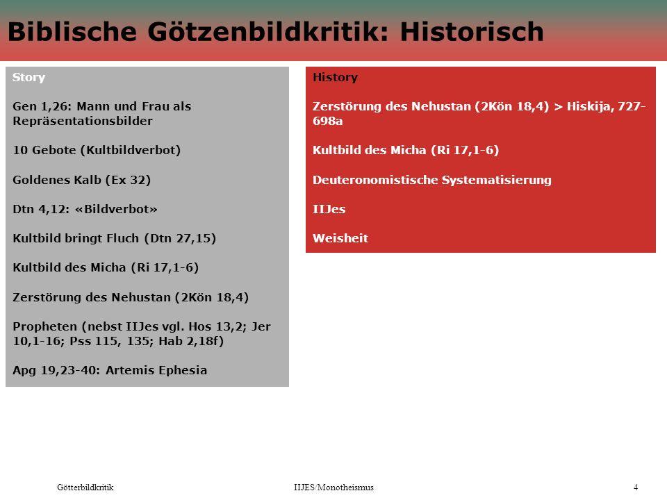 Biblische Götzenbildkritik: Historisch