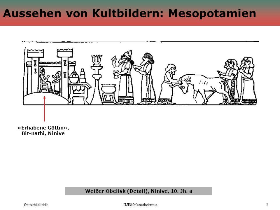 Aussehen von Kultbildern: Mesopotamien
