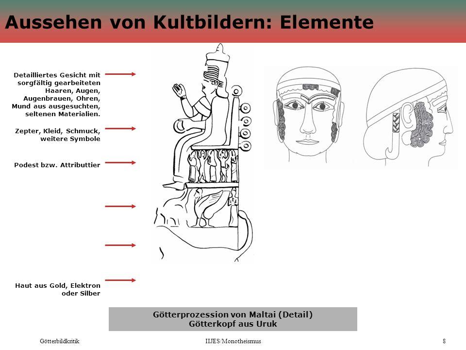 Aussehen von Kultbildern: Elemente