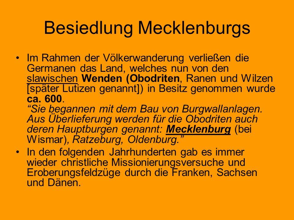 Besiedlung Mecklenburgs