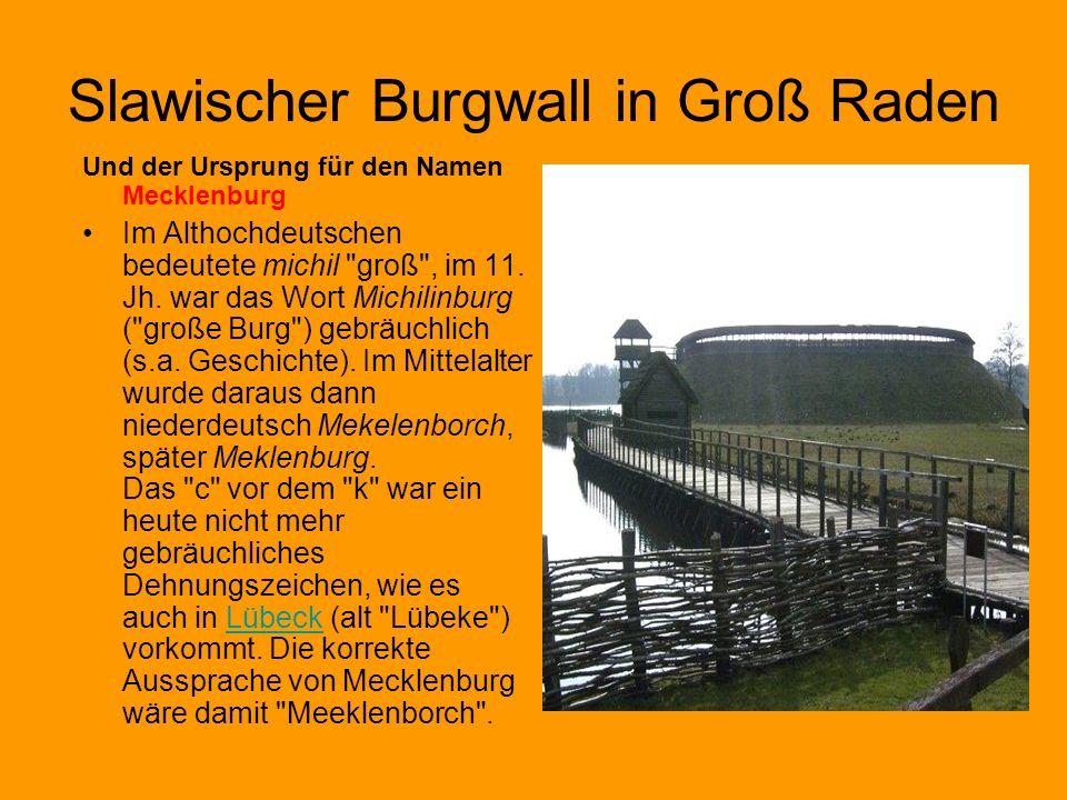 Slawischer Burgwall in Groß Raden