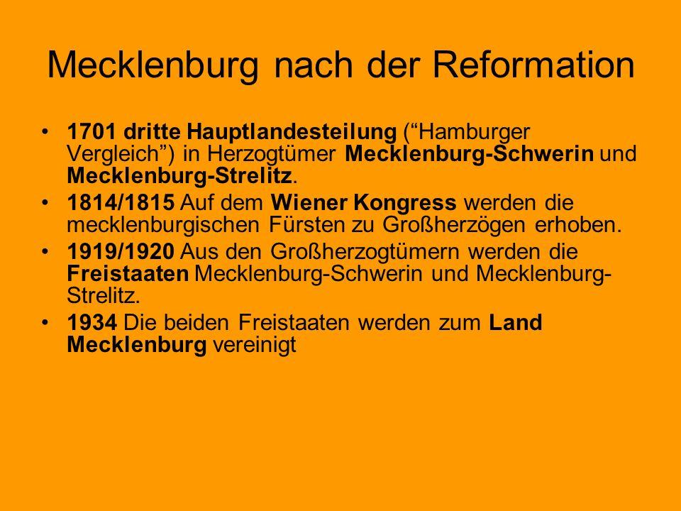 Mecklenburg nach der Reformation