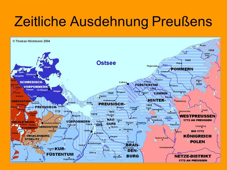 Zeitliche Ausdehnung Preußens