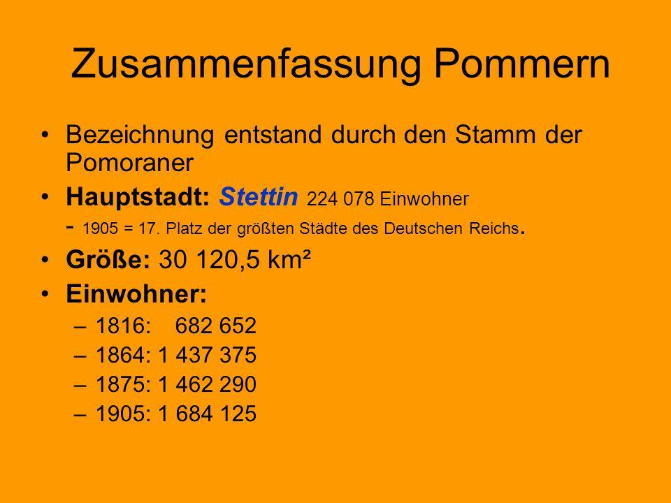 Zusammenfassung Pommern