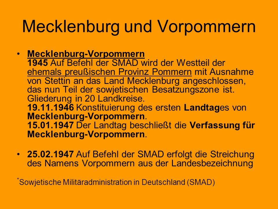 Mecklenburg und Vorpommern