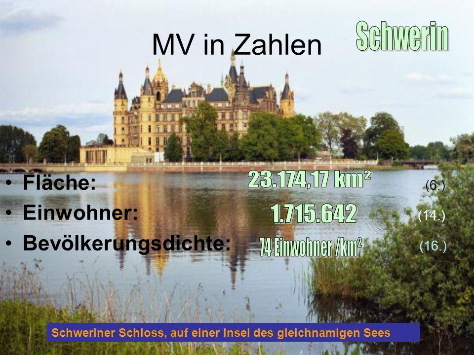 MV in Zahlen Schwerin Fläche: (6.) Einwohner: (14.)